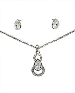 Swarovski Elements Necklace & Earrings Set for Women - [SWR-011]