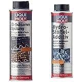 Liqui Moly 5200 Aditivo Eliminacion Lodo AC, 300 Ml + 1009 Aditivo para Reducir El Ruido De Válvulas Hidráulicas (300 Ml)