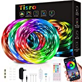 Led Strip Lights 50ft, Led Lights for Bedroom with Remote and Bluetooth App Control, Music Sync RGB Color Changing Led Light Strips for Room, Bedroom, Kitchen