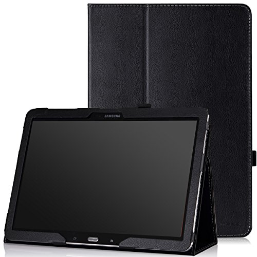 MoKo Samsung Galaxy Note PRO & Tab PRO 12.2 Case - Slim Folding Cover Case for Galaxy NotePRO & TabPRO 12.2 Android Tablet, Black (with Smart Cover Auto Wake/Sleep)