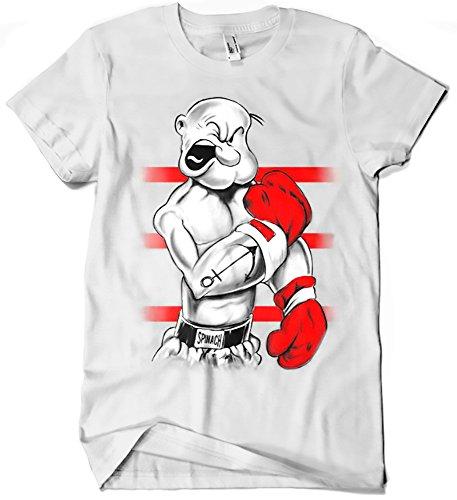 Camisetas La Colmena 213-Camiseta Popeye Ali (M, Blanco)