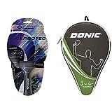 Donic-Schildkr Carbotec 900 Racchetta Tennis Tavolo Concava, Multicolore & Custodia Tennistavolo, Multicolore, M