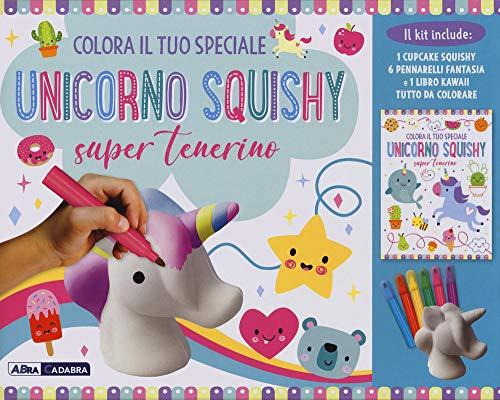 Colora il tuo speciale unicorno Squishy super tenerino. Con gadget