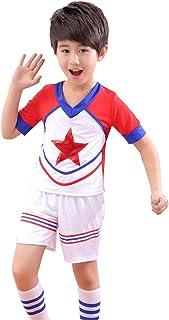 ファッションVネックノースリーブガールチアリーディングコスチューム、 少年半袖スポーツクラブチアリーディング衣装、 Aラインスカートプリーツスカートダンス衣装、 ハロウィーン/ロールプレイング/ダンスコンクールに適しています