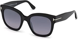 Tom Ford LARA-02 FT 0573 shiny black//grey shaded Sunglasses 01B I