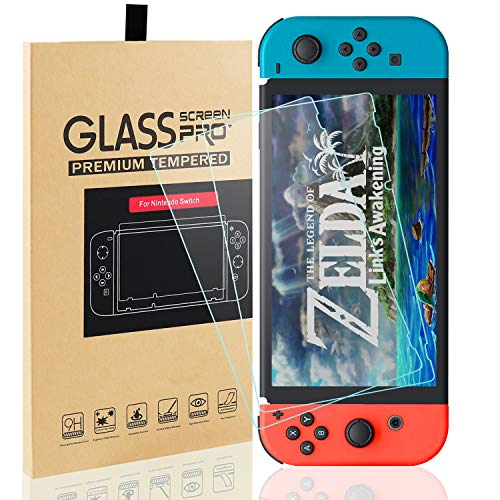 MAEXUS 2 Pcs Switch Screen Protector Tempered Glass Premium HD Clear Anti-Scratch Screen Protector for Nintendo Switch