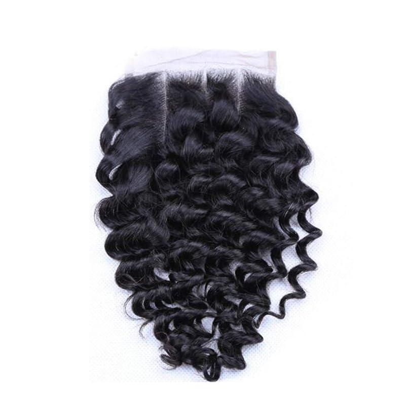 噴火手足自発的かつら深いカーリーウェーブ人間の毛髪のレースの正面かつらは、黒の女性のための赤ちゃんの髪と 130% 密度自由部分自然な色