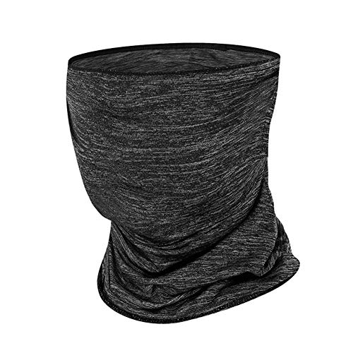 chebao Neck Multifunction Headwear,Windproof Neck Gaiter Scarf,Neck Tube Sunscreen Headbands, Riding Half Face s Breathable Anti-UV Windproof Sports Headscarf (Grey) for Men Women Outdoors Cycling