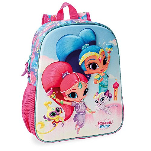 Shimmer and Shine Twinsies Mochila Preescolar 33 cm, Frontal 3D