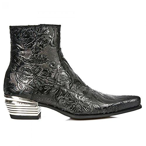 Rock New Boots M.NW131-S1 Urban Cowboy Herren Sicherheits Stiefeletten Schwarz, EU 41