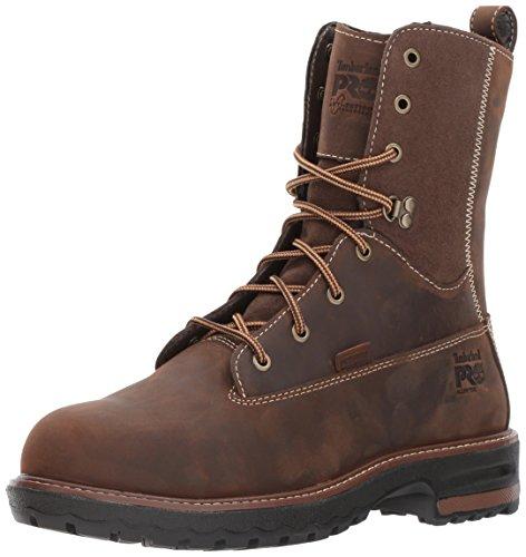 "Timberland PRO Women's Hightower 8"" Alloy Toe Waterproof Industrial & Construction Shoe, Kaffe Full-Grain Leather, 8"
