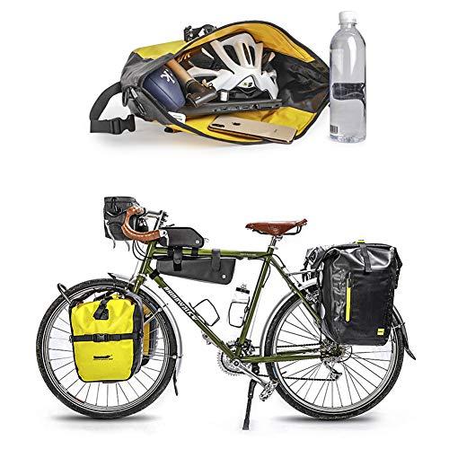 Rhinowalk Fahrradtasche 20L TPU Wasserdichtes Fahrrad Gepäcktaschen Reißfest Rücksitz Gepäckträger Tasche MTB Fahrrad Satteltaschen - 5