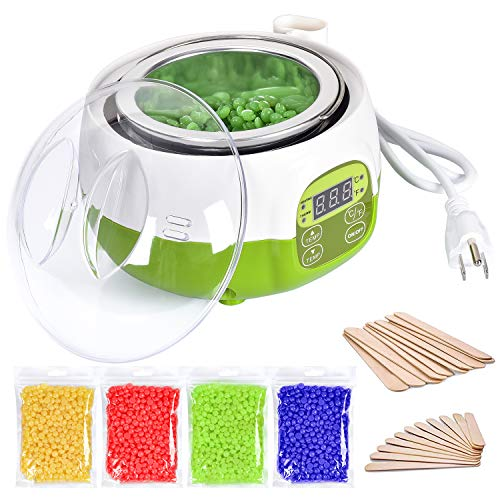 DeveSouth 17oz Green Wax Warmer Machine Hair Removal Kit Digital Display Waxing Bean Device (MD-135)