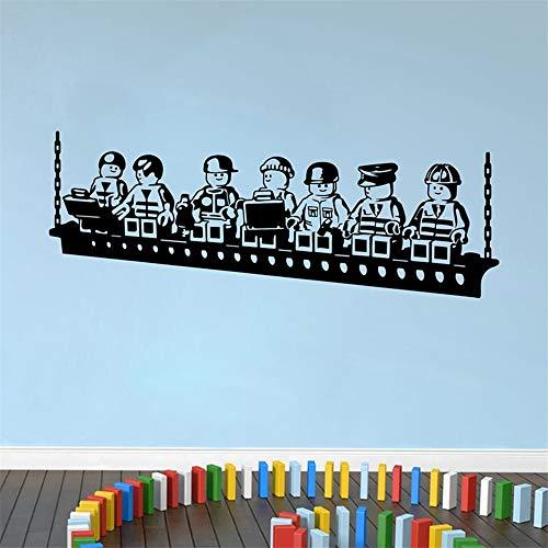 etiqueta de la pared Robots Lego Game For Kids Room Decor Habitación de niños Cuarto de niños Decoración de dormitorio