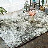 Veränderte Krawatten-Farbverlaufsteppichmode Wohnzimmerkaffee-Tischmatte einfaches langes Haar waschbare Deckenmatte SYFO (Farbe : A, größe : 130CM×190CM)