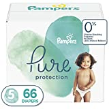 Diapers Size 5, 66 Count - Pampers Pure Protection Disposable Baby Diapers, Hypoallergenic and Unscented Protection, Giant Pack (Old Version)