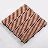 GUORRUI Baldosas De Jardín con, Deck Composite Plus Decking Tiles, Material Reciclado De Las Tejas Compuestas del Decking del Jardín Que Entrelazaban para Jardín, Patio, Terraza