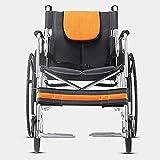 LOLRGV Aluminiumlegierung Rollstuhl Leichtklapp Tragbare Kellner Push-Rollstuhl Ältere Scooter Abnehmbarer -