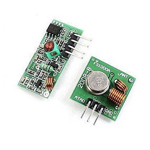 CHENGYIDA Lot de 5 émetteurs et récepteurs RF 433 MHz pour Arduino/Arm/Wl MCU Raspberry Pi