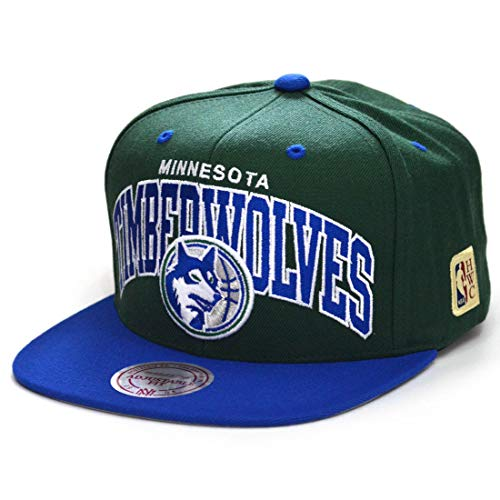 Mitchell & Ness Snapback Cap Team Arch HWC Minnesota Timberwolves Green/Royal