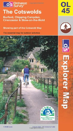 OS Explorer map OL45 : The Cotswolds