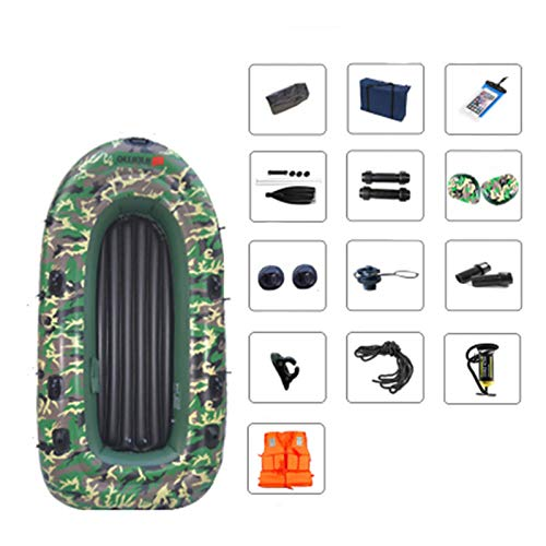 ADKINC Inflatable Floating Platform 4 People Camouflage Thick Inflatable Boat Dinghy Fishing Boat...