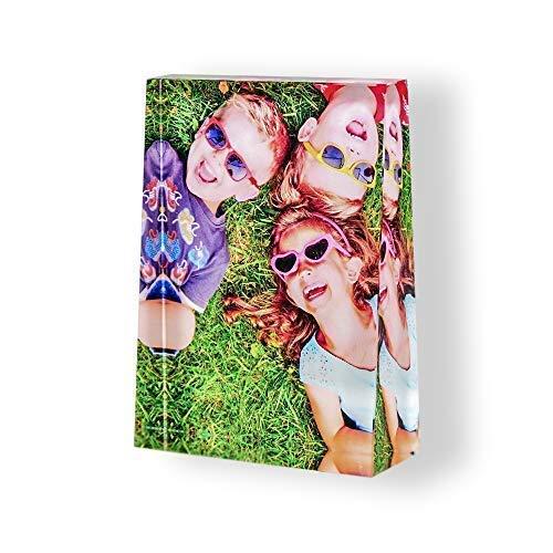 Isonio Glasfoto in Farbe - Ihr eigenes Foto auf echtes Viamant Glas gedruckt - Foto auf Glas als Fotogeschenk (Größe L Hochformat 100 x 135 x 35mm)