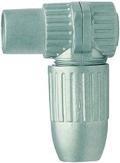 Axing CKK 4 00 IEC Winkel Kupplung Koax Buchse abgewinkelt, hochgeschirmt im Vollmetall Gussgehäuse (1 Stück)