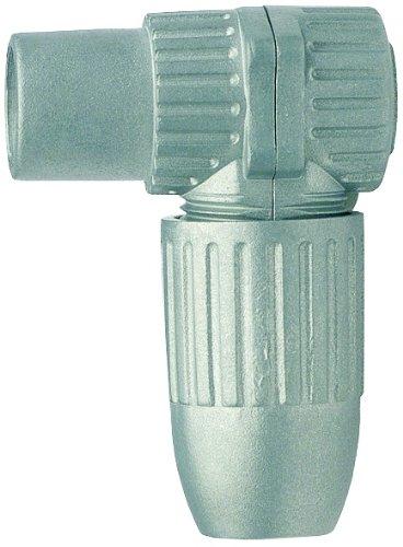 Axing CKK 4-00 IEC-Winkel-Kupplung Koax-Buchse abgewinkelt, hochgeschirmt im Vollmetall Gussgehäuse (1 Stück)