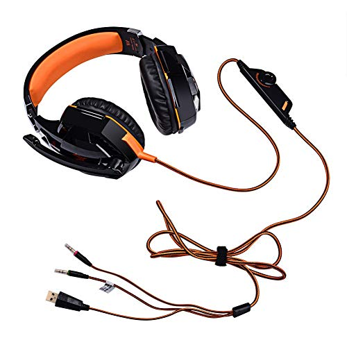 Best Prices! KRFRL Headset Game Esports Special Headset, Subwoofer Cable with Microphone Headset, Li...