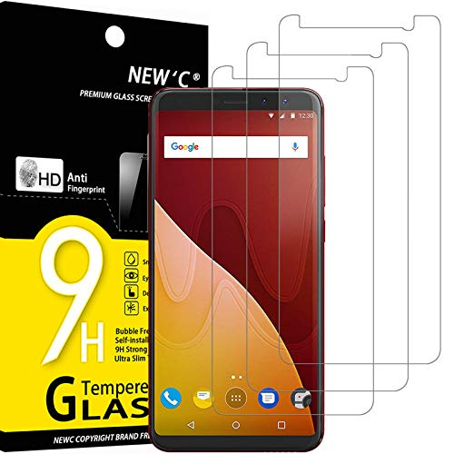 NEW'C 3 Stück, PanzerglasFolie Schutzfolie für Wiko View Prime, Frei von Kratzern Fingabdrücken & Öl, 9H Festigkeit, HD Bildschirmschutzfolie, 0.33mm Ultra-klar, Ultrawiderstandsfähig