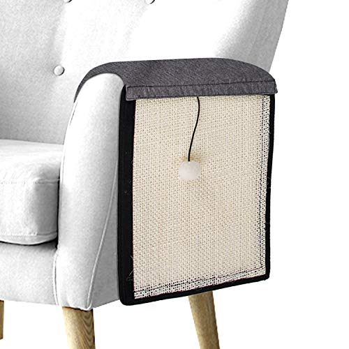 EONAZE Rascador para Gatos - Afilador de uñas de sisal para Mascotas, Rascarse Mat de Gatos para Esquina de sofá o sillón (110 * 29cm)