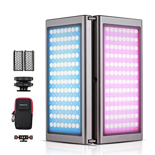 Falcon Eyes F7 Fold Video Plegable RGB Luz LED Luz de Relleno a Todo Color Magnética Pantalla OLED Plegable de 180 ° Control BT 20 Efectos de Luz CCT Modo HSI Batería Incorporada de 7600 mAh