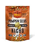Rockit Snacks Gluten Free Vegan Protein Pumpkin Seeds | Crunchy and Savory Roasted Pumpkin Seed Vegan Snacks with 100% Plant Protein Ingredients | Certified Paleo and Keto Food | Nacho - 6pack