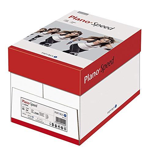 Papyrus 88113572 Drucker-/Kopierpapier PlanoSpeed: 80 g/qm², A4, weiß, 2500 Blatt - staufreies Drucken auf allen Geräten