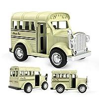 MINE 1:36 ダイキャスト合金車音楽 & ライト & 開閉ドア車両モデル高シミュレーション機能バスのおもちゃ子供のため