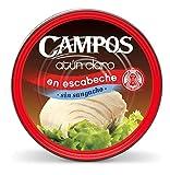 Campos, Conserva de atún claro en escabeche sin sangacho - pandereta/ lata de 1900 gr.