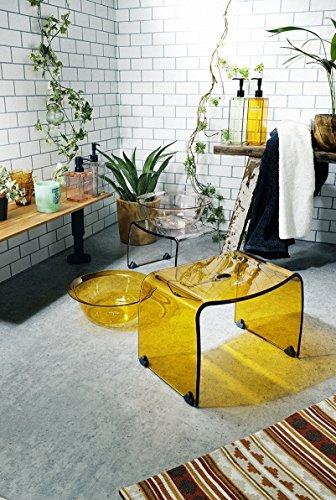 リス風呂椅子フランクタイムMクリアグリーン