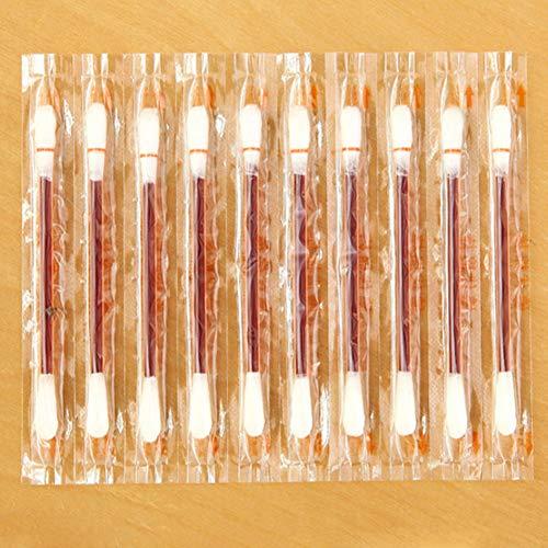 100 hisopos de algodón de yodo, palillo de algodón médico portátil para cuidado de heridas médicas de emergencia exterior
