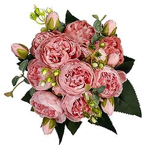 StarLifey – Juego de 2 piezas de flores artificiales para mesa de mesa de hortensia, para fiestas, bodas, ramo de flores