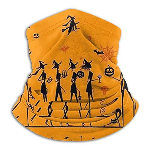 Braga de pierna larga Halloween reutilizable ajustable headwear unisex diadema multifuncional al aire libre sol UV y polvo casual cuello polaina calentador pasamontañas impreso bandanas
