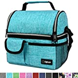 OPUX Insulated Dual Compartment Lunch Bag for Men, Women | Double Deck Reusable Lunch Pail Cooler...