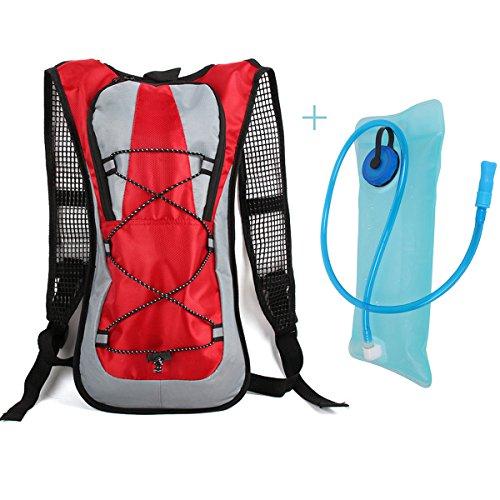 Idratazione ciclismo zaino pacchetto con un sacchetto 2L dell'acqua, design bello e tessuto resistente materiale, iParaAiluRy