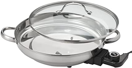 small stainless steel electric skillet