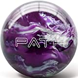 Pyramid Path PRE-DRILLED Bowling Ball (Purple/Black/White, 8 LB)