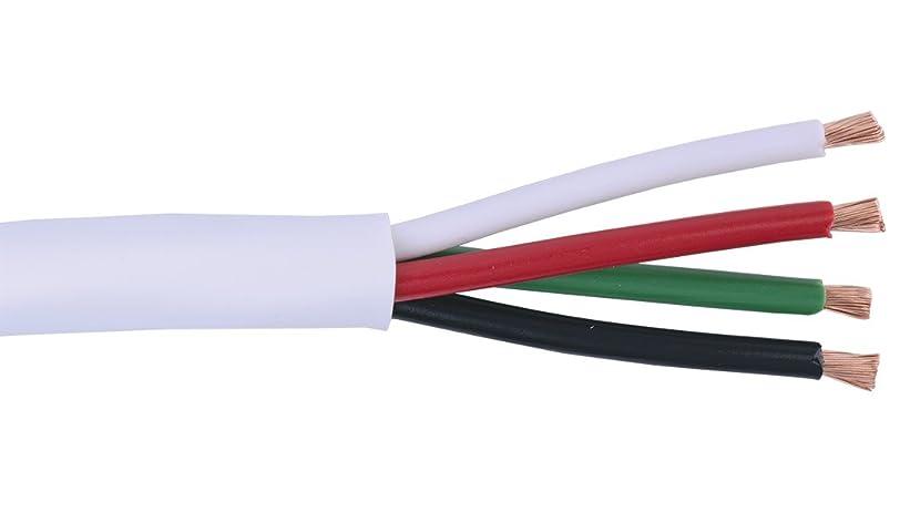 けがをする馬力絞るliberty-wire-and-cableホワイトKnockout 16?AWG 4導体スピーカーケーブルリール
