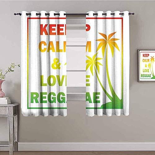 LucaSng Cortinas de Opacas - Color letra del alfabeto playa palmera dibujos animados - 183x160 cm - para Sala Cuarto Comedor Salon Cocina Habitación - 3D Impresión Digital con Ojales Aislamiento Térmi