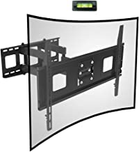 Fleximounts Curved Flat TV Wall Mount TV Bracket for 32-65 inch up to 132lbs VESA..