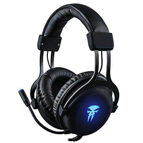Auriculares Gaming para PC, Xbox One, PS4 - 3.5mm Cancelación De Ruido Gaming Headset, juego auriculares con micrófono para nueva portátil Mac Tablet iPhone iPad iPod