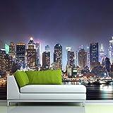 Papel Pintado Fotográfico Escena Nocturna De La Ciudad...